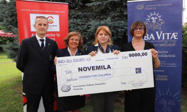 ALBA VITAE: RACCOLTI 9 MILA EURO PER VICENZA FOR CHILDREN