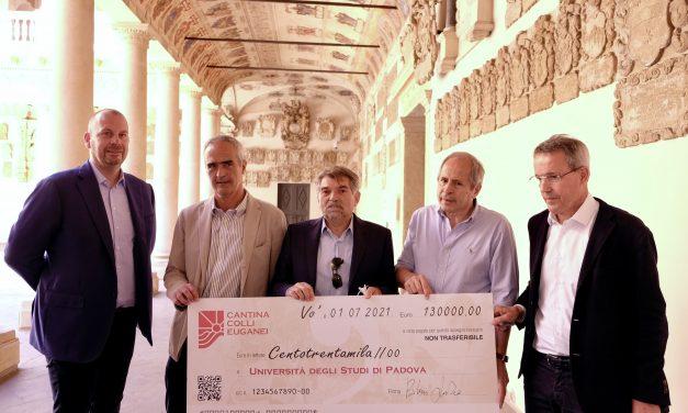 CANTINA COLLI EUGANEI FINANZIA LA RICERCA: 130.000 EURO ALL'UNIVERSITÀ DI PADOVA