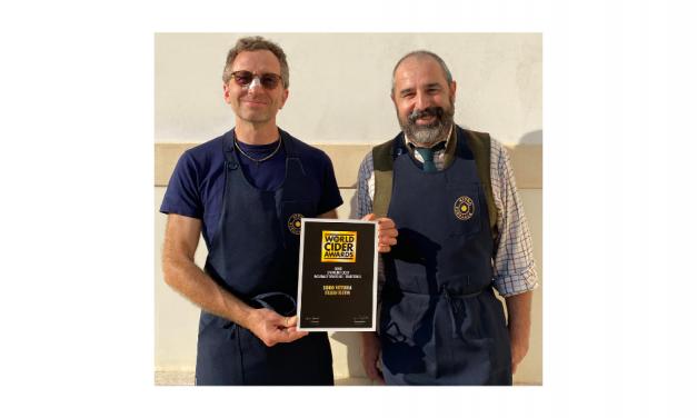 WORLD CIDER AWARDS 2021: SIDRO VITTORIA VINCE L'ORO CON ITALIAN BLOOM